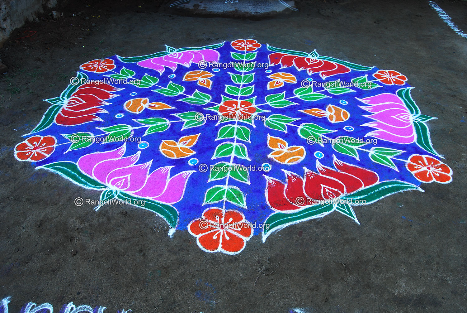 Lotus Kolam Designs Gallery