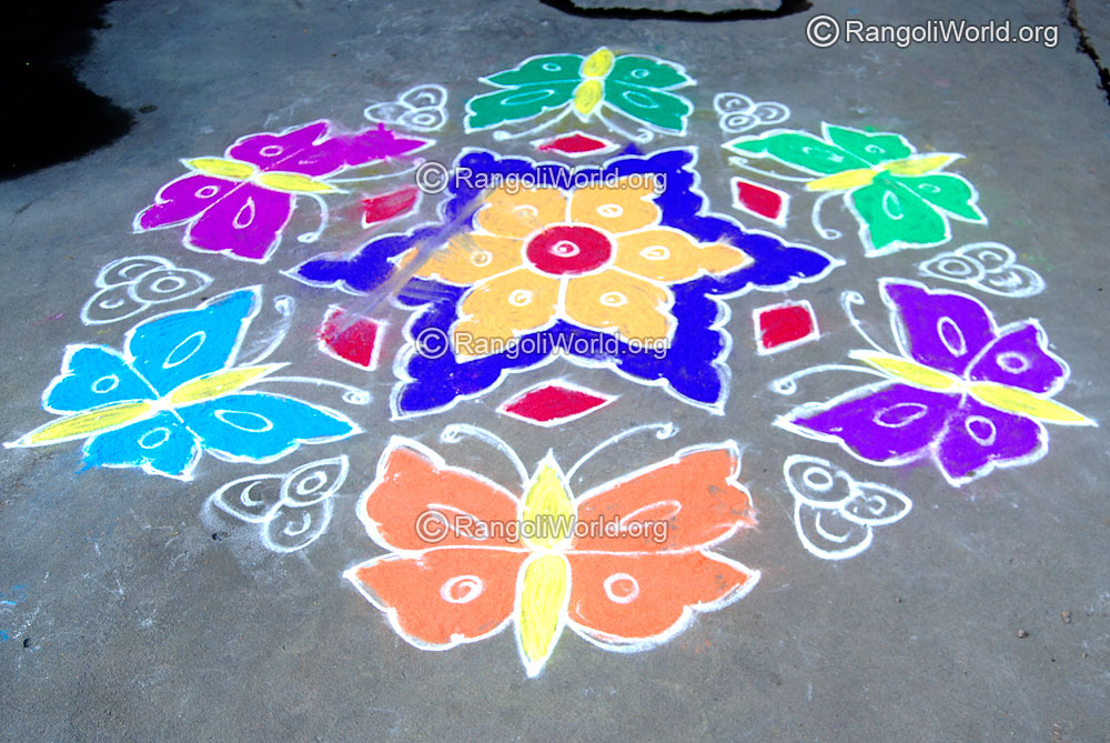 Butterfly Kolam Designs Gallery