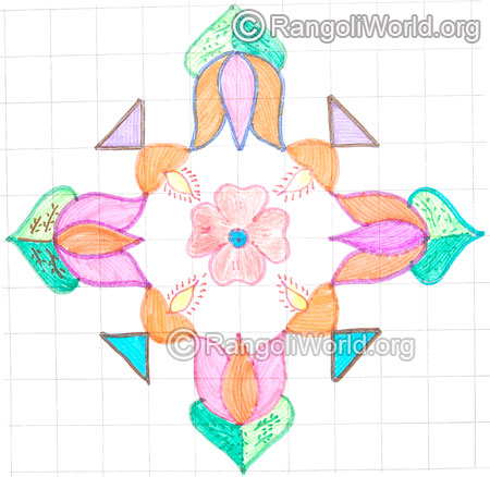 Lotus deepam kolam may8 2015