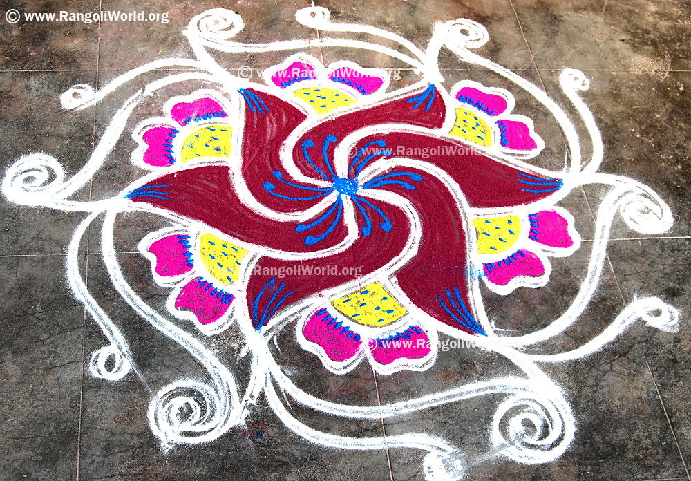 Image result for swastik design rangoli