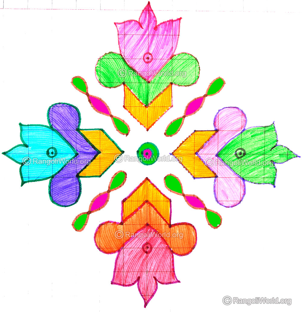 Flower With Sikku Kolam Aug14 2015 13 1 Parallel Dots