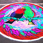 Birds rangoli designs collection