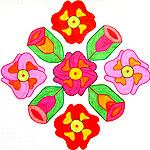 Flower kolam designs collection