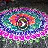Flower freehand rangoli video for diwali and festivals