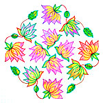 Lotus kolam designs collection