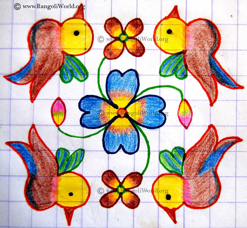 Parallel Dots Kolam