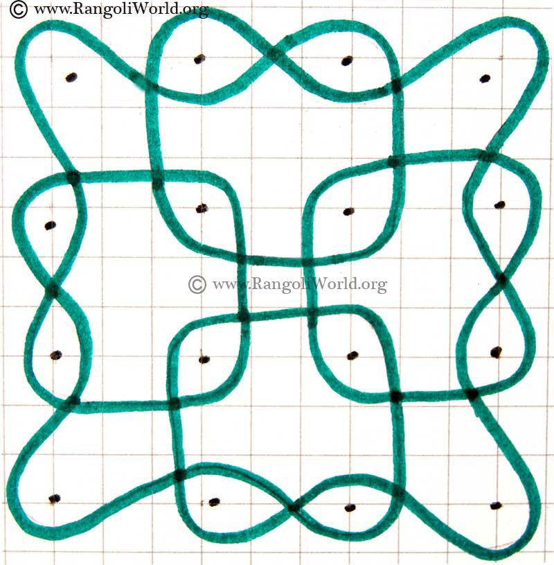Parallel Dots Kolam