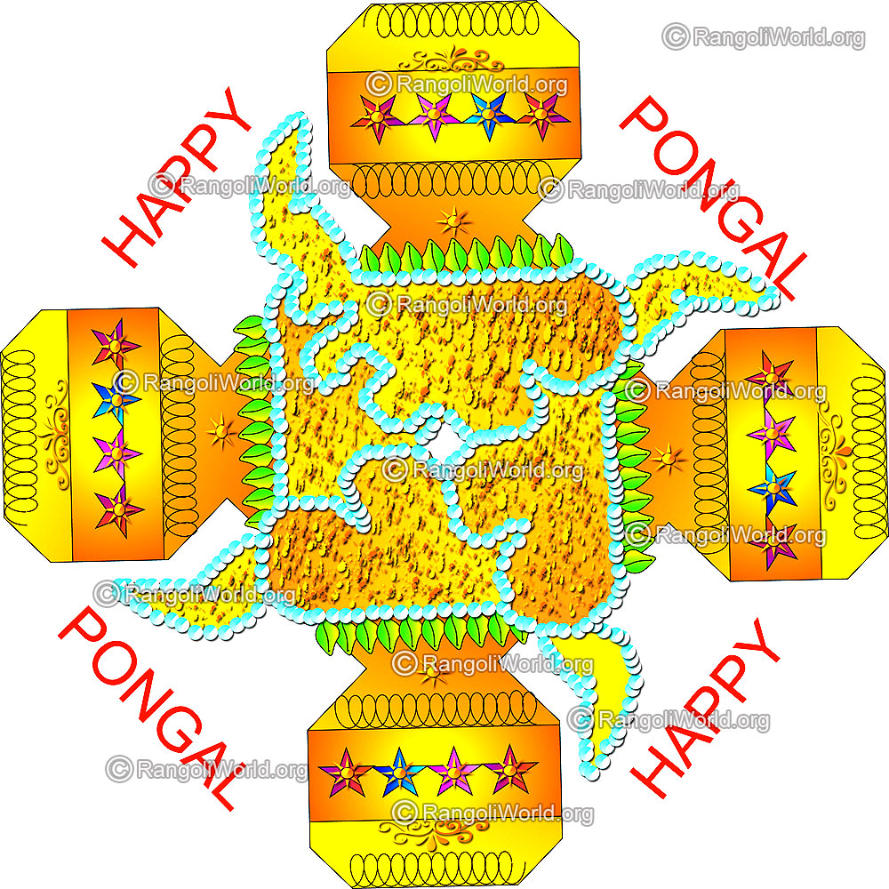 Pongal kolangal 2015 thai pongal and mattu pongal kolam designs pongal kolam design with pongal greetings m4hsunfo