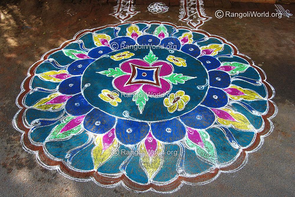 flower rangoli designs collection9