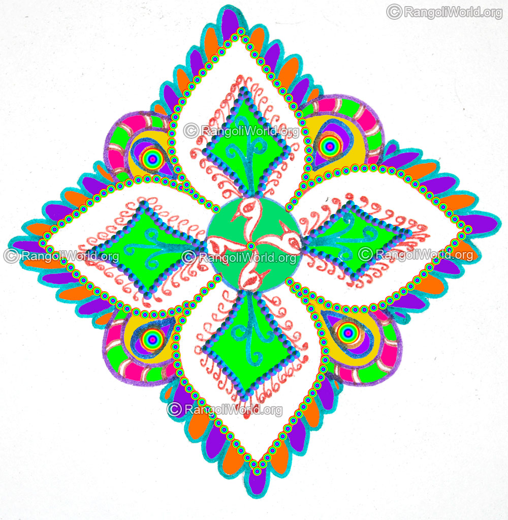 daily rangoli designssimple easy colorful