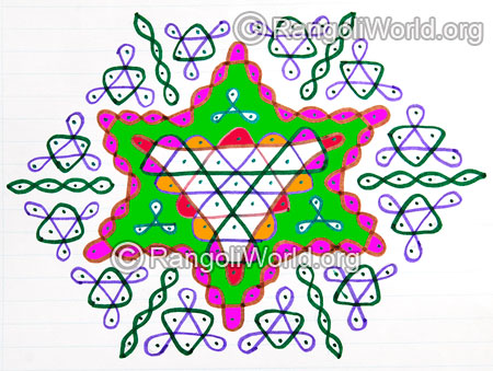 Easy big star sikku kolam jan 2016