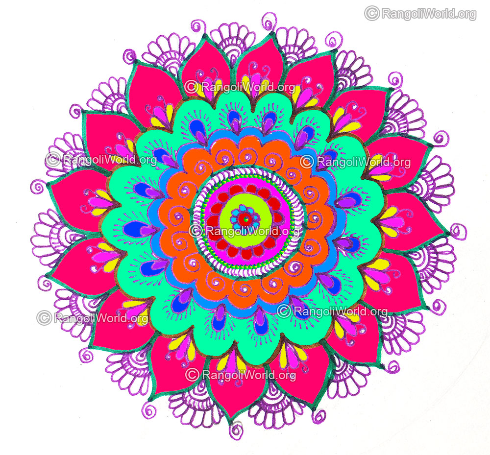 New year designs rangoli images for New design pic