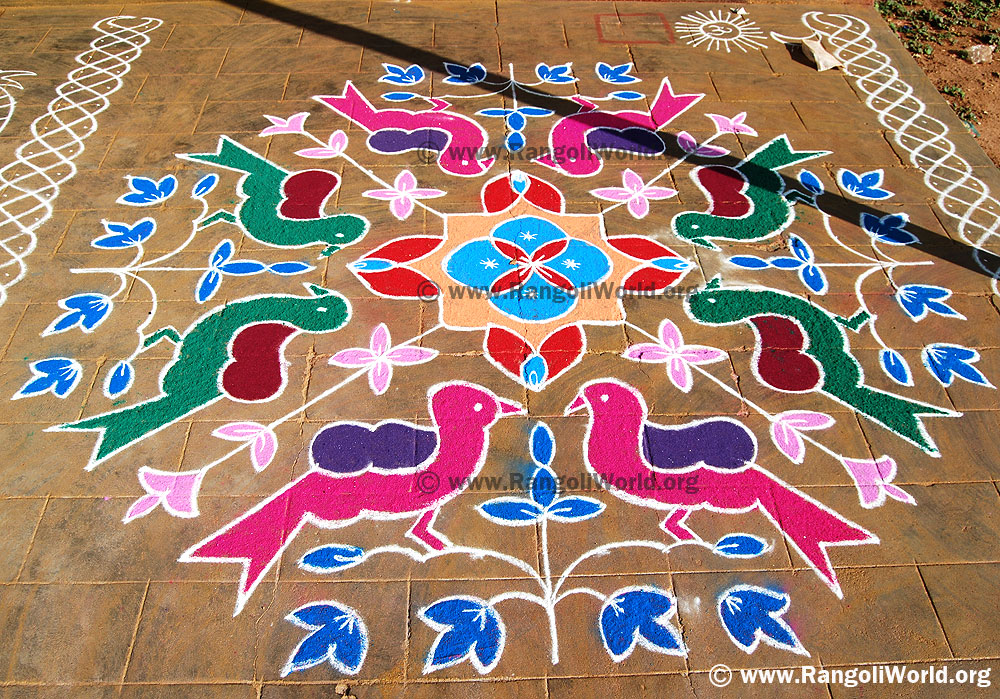 Pongal Kolam With Dots Details | Search Results | Calendar 2015