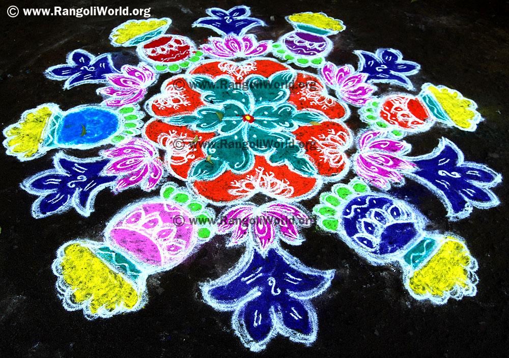 Pics Photos - Pongal Rangoli Kolam