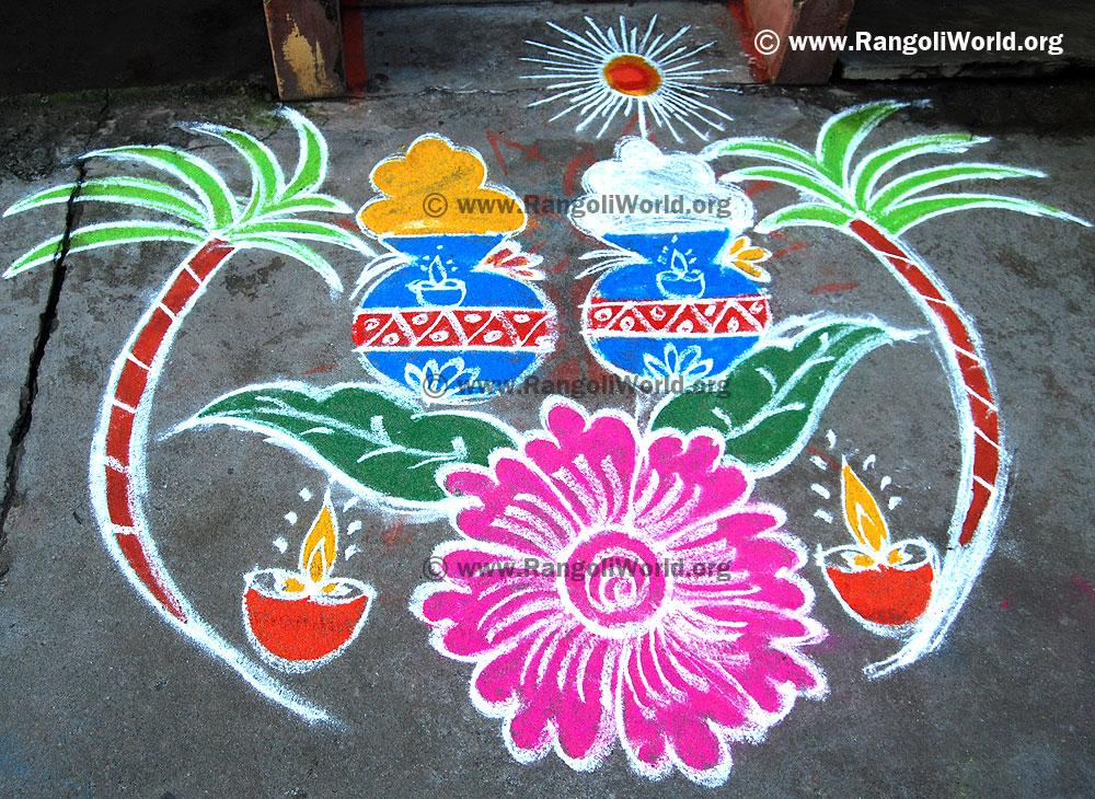 Pongal Rangoli 2014 Collection 3