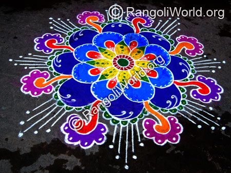 Freehand rangoli thai pongal jan2015