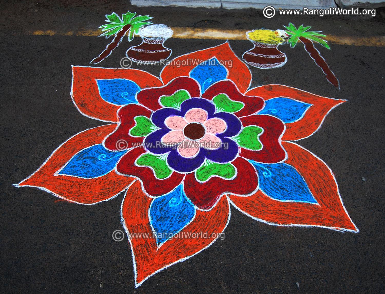 Pongal Rangoli Designs 2018