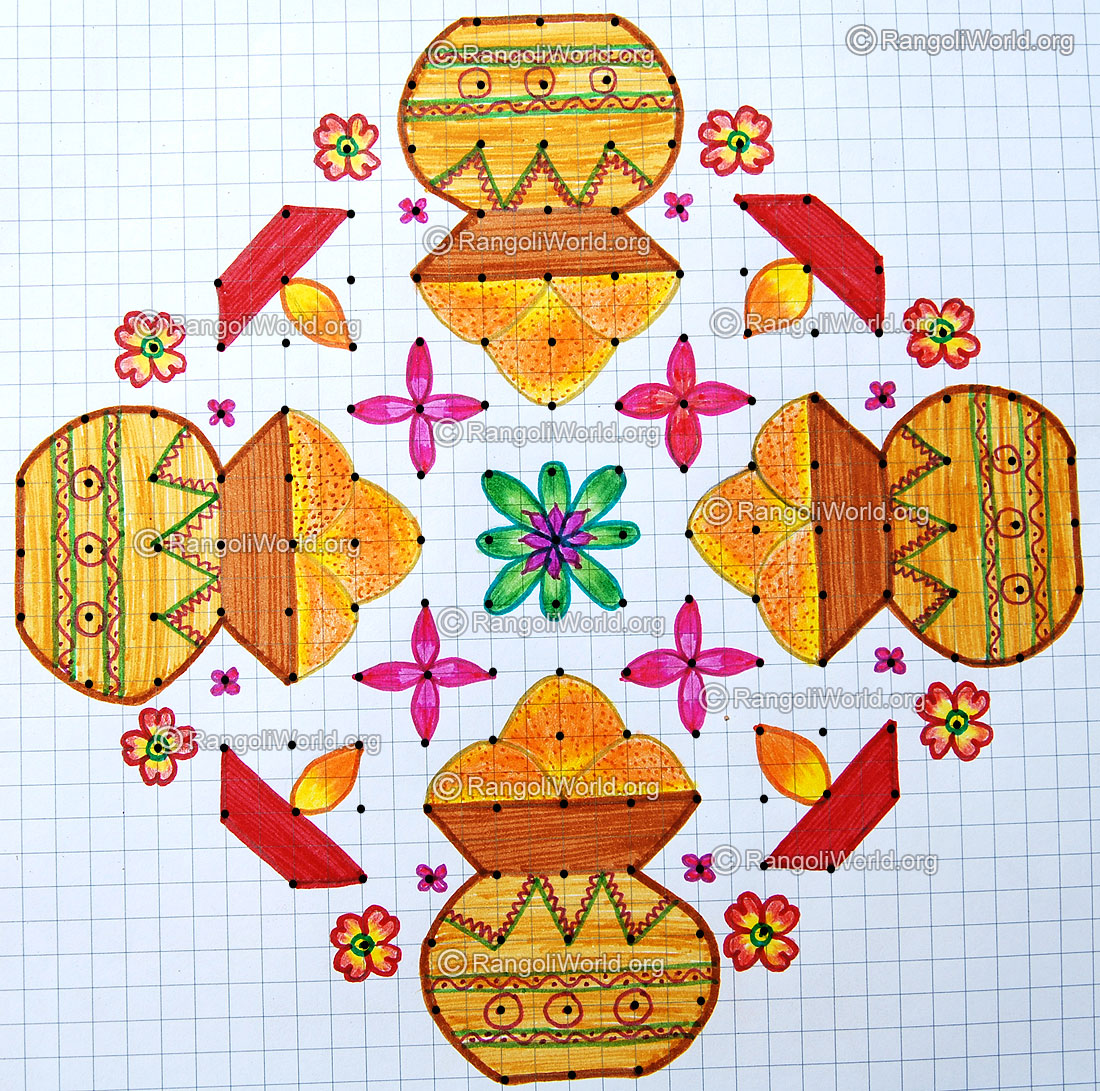 17 And 18 Dots Kolam Designs Gallery 1