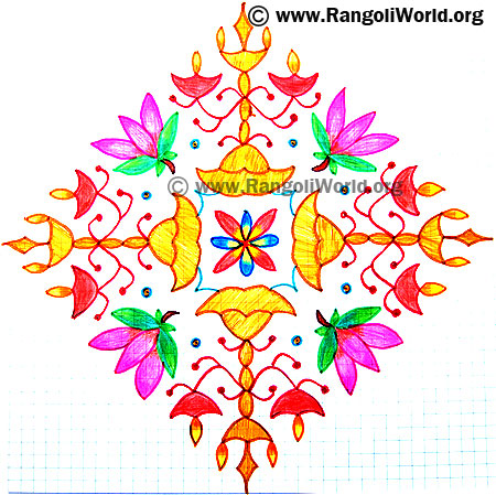 Lotus Lamp Kolam