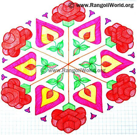 Rose Flower Kolam