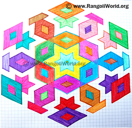 Star Diamond Kolam