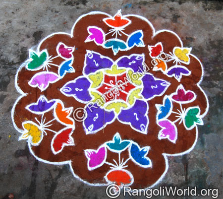 Flower Kolam Designs Gallery 11