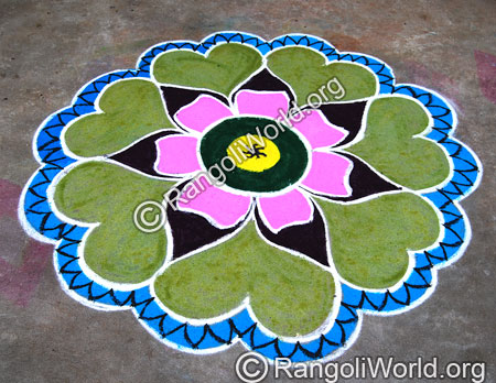 Sunflower Rangoli