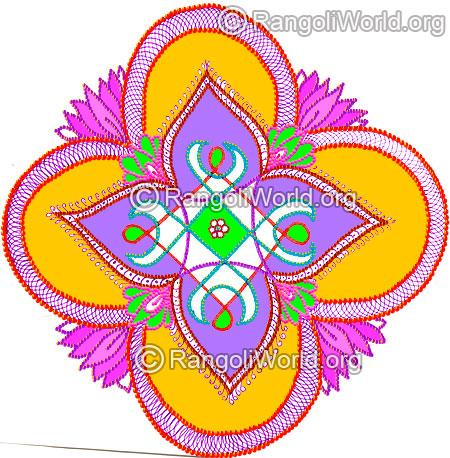 Happy New Year New Rangoli 78